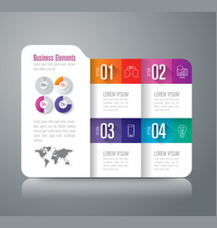 folder infographics design with 4 options vector image vector image