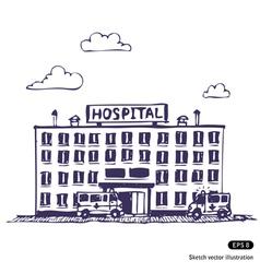 Hospital building vector image