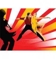 jazz trumpet vector image vector image