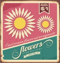 Vintage florist shop sign vector image vector image