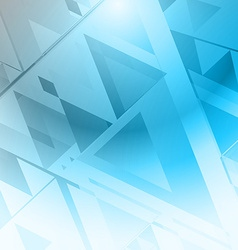 Background triangle blue vector image vector image