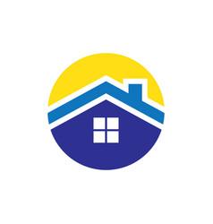 circle roof housing logo vector image