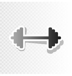 dumbbell weights sign new year blackish vector image