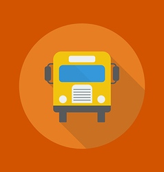 Education Flat Icon School Bus vector image vector image