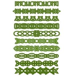 Green celtic knots ornaments vector image vector image