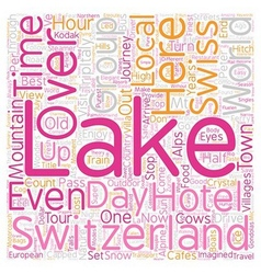 Scenic wonders swiss alps italian lakes text vector