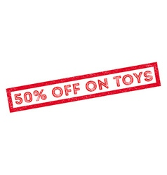 50 percent off on toys rubber stamp vector