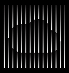 abstract unusual cloud sign logo on geometric vector image