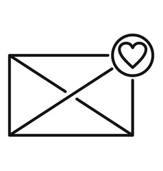 Affection mail icon outline style vector