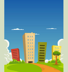 Apartments and offices building vector