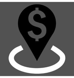 Bank Location Flat Icon vector image