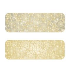 Banner Christmas with snowflakes gold background vector image