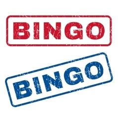 Bingo Rubber Stamps vector