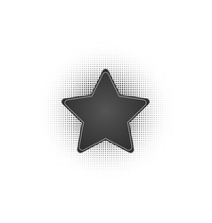 black abstract star frame halftone dots logo vector image