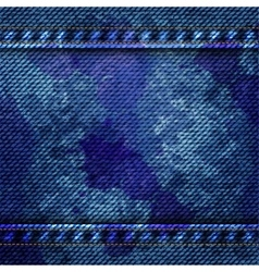 blue jean texture background vector image