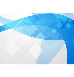 Bright blue abstraction vector image