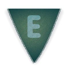Bunting flag letter E vector