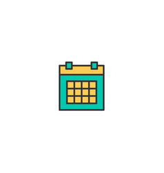calendar icon design essential icon design vector image
