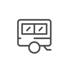 Camper line icon vector