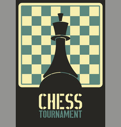 Chess tournament typographical vintage poster vector