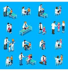Child Diseases Isometric Icons Set vector