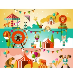 Circus performance background vector