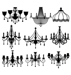 Classic crystal glass antique elegant chandeliers vector