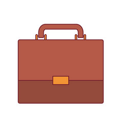 colorful graphic of executive briefcase with dark vector image