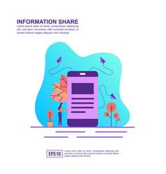 concept information share modern conceptual vector image
