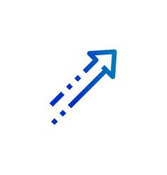 conceptual geometric modern design arrow upward vector image