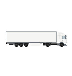 container trailer truck with cold room vector image