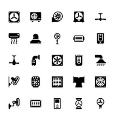 Cooling and ventilation icons vector