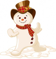Cute Christmas snowman vector