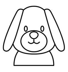 cute dog head cartoon vector image