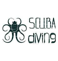 design logo scuba diving vector image