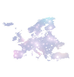 dotted europe map geometric graphic background vector image