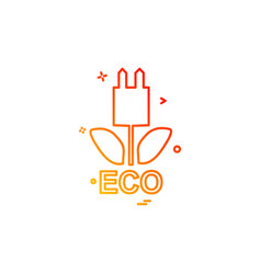 ecology icon design vector image