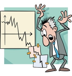 economic crisis cartoon vector image