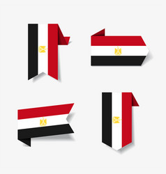 Egyptian flag stickers and labels vector