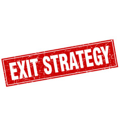 Exit strategy square stamp vector