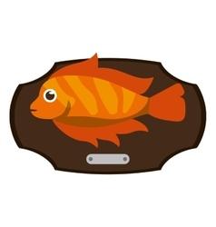 Fish animal cartoon over table design vector