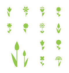 Flower icon or symbol isolated vector