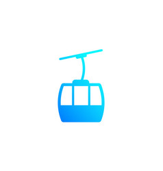 Funicular icon on white vector