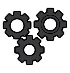 gears three icon image vector image