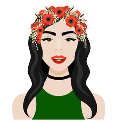 Girl with wreath vector