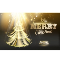 Gold fir-tree vector image