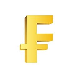 Golden currency symbol vector image