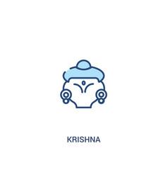 Krishna concept 2 colored icon simple line vector