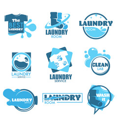 Laundry service isolated icon clothes and washing vector