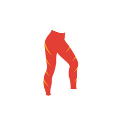 Leggings icon simple flat element from fitness vector